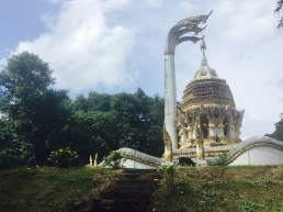 A religious monument near Chiang Dao cave