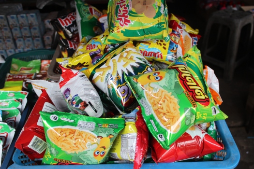 potato snacks, Thailand, Thai food, Thai market